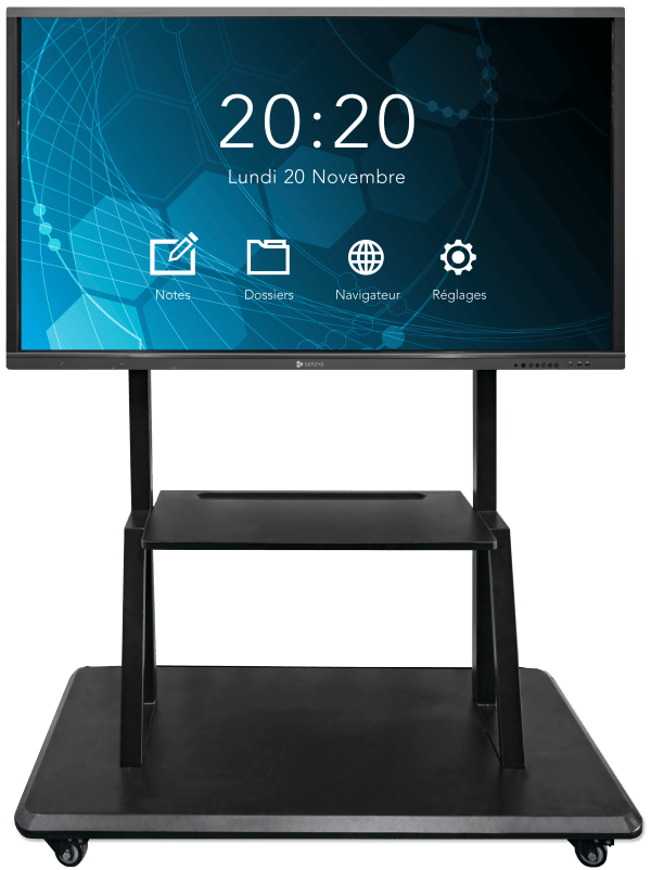 interactive flat panel with mobile stand
